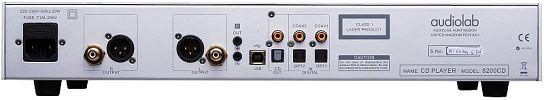 CD přehrávač 8200CD - stříbrný, zezadu