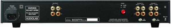 Gramofonový předzesilovač 8000PPA - zezadu